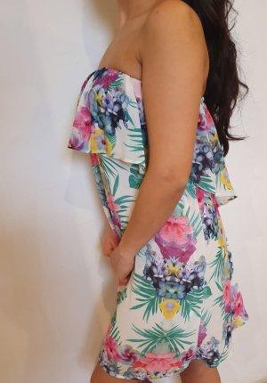 Bershka Flounce Dress multicolored