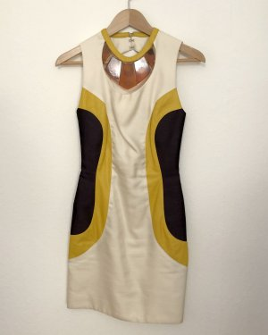 Laura Stöckl Leather Dress multicolored silk