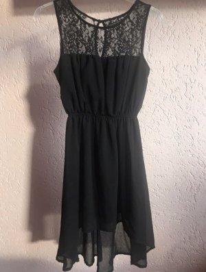 Knielanges Kleid in Schwarz