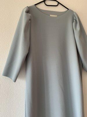 Knielanges Kleid in schwarz und Graublau