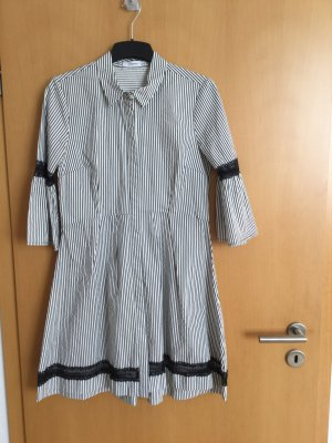 Concept Reserved Shirtwaist dress white-black cotton