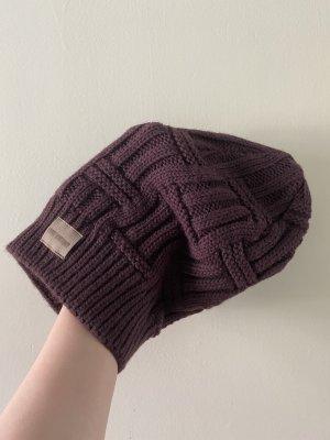 knit factory Bonnet rouge mûre-brun pourpre