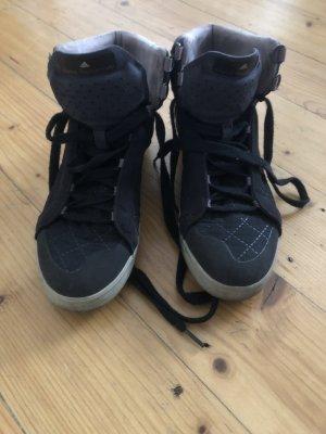Adidas by Stella McCartney Basket à lacet noir-gris clair