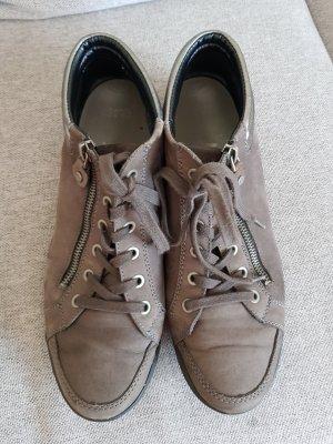 ara Lace-Up Sneaker silver-colored-dark grey