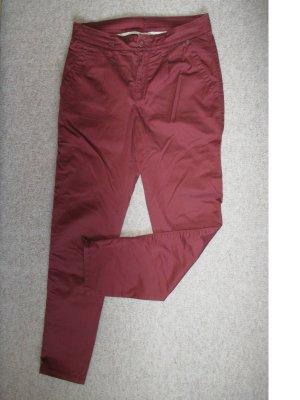 Esprit Chinosy brązowo-czerwony