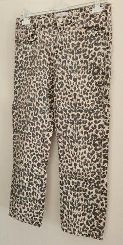 Knöchellange Jeans mit Leoprint, Gr. 40