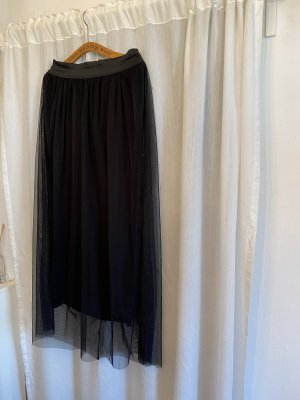 Tiulowa spódnica czarny