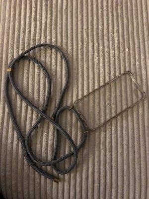 Hoesje voor mobiele telefoons grijs-goud