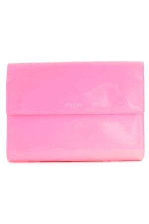 KNOMO London Clutch neonpink-rosa extravaganter Stil