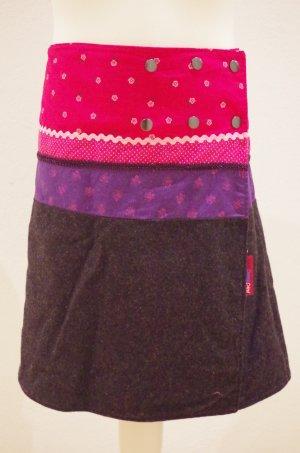 Falda cruzada rosa-negro Algodón