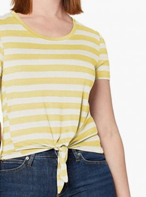 Only Camicia cropped bianco-giallo Lycra