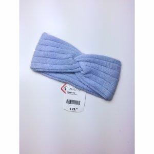Knoten Haarband Stirnband Blau Winter Accessoire Wolle Angora Headband Blogger Style Pastell