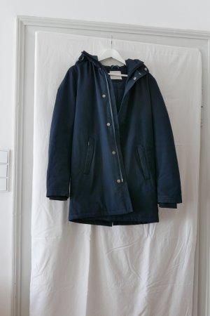 KnowledgeCotton Apparel Winter Jacket dark blue mixture fibre