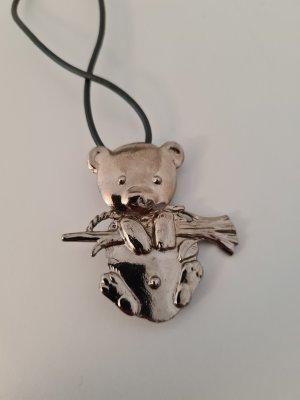 Koalabrosche/Anhänger mit Kette vintage