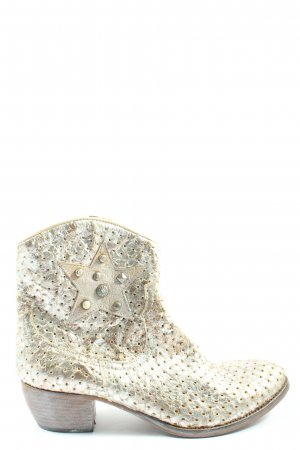Kobra Western Booties silver-colored-natural white wet-look