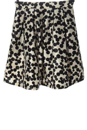 Kocca Flared Skirt cream-black allover print elegant