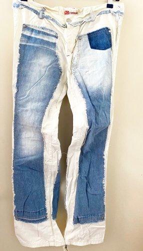 Kocca Jeans svasati bianco-azzurro Cotone