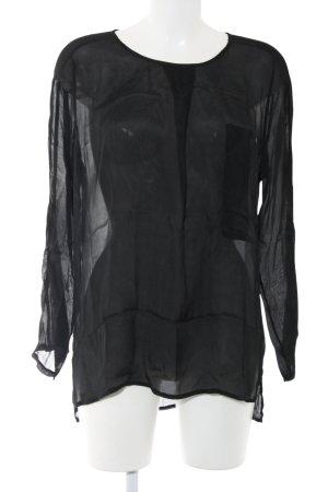 Kocca Transparenz-Bluse schwarz Casual-Look