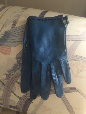 Leather Gloves cornflower blue