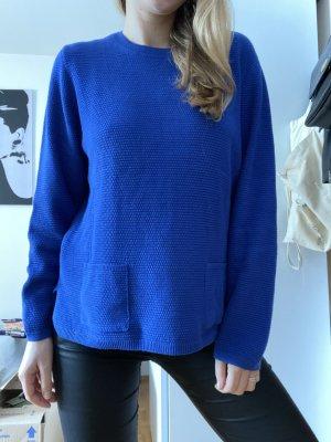 Königsblauer Pullover Rabe mit Taschen Gr.38