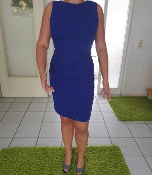 Mango Suit Vestido strapless azul