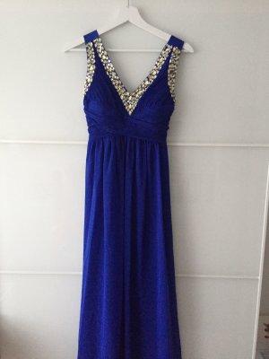 Königsblaues Kleid sehr schick mit Pailleten
