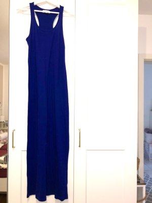 Königsblaues Maxikleid Jersey neu langes Kleid
