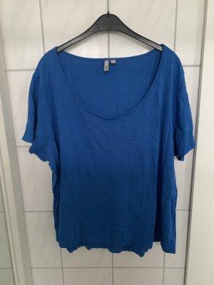 Königsblaues T-Shirt mit Rundhalsausschnitt