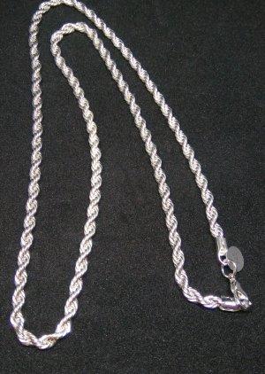 Srebrny łańcuch biały