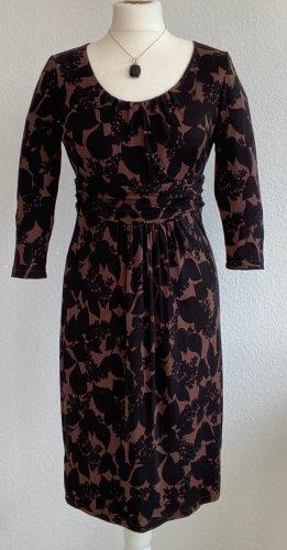 Boden Sukienka z dżerseju czarny-brązowy Lyocell