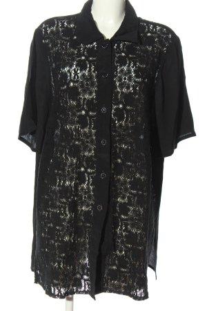 Kohlhaas Hemd-Bluse schwarz Webmuster Casual-Look
