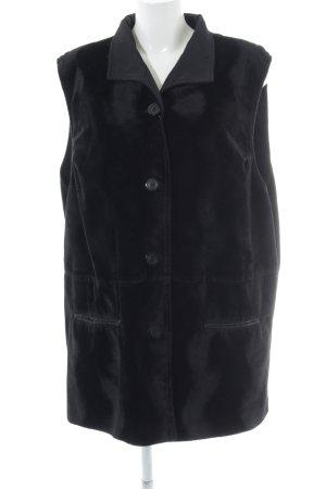 Kohlhaas Omkeerbaar vest zwart casual uitstraling