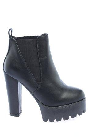 Koi Couture Botki czarny W stylu casual