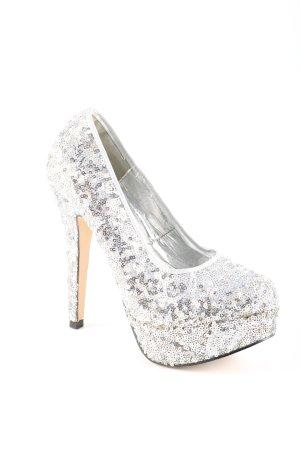 Koi Couture Platform Pumps silver-colored elegant