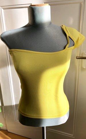 Top monospalla giallo