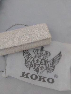 Koko Handtasche,Spitze,creme