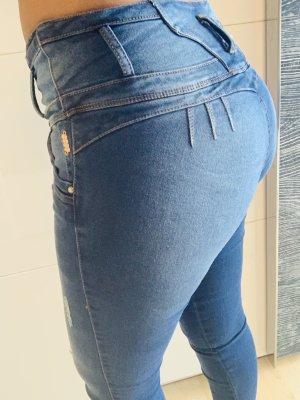 100% Fashion Stretch jeans korenblauw