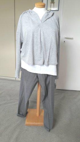 Zara Top à capuche gris clair