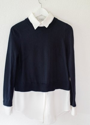 Kombi-Pullover von Sandro aus Baumwolle, Seide und Caschmere