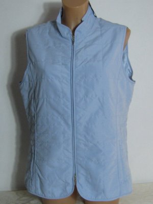 Quilted Gilet azure polyester