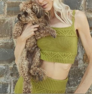 Glamorous Midi Skirt olive green