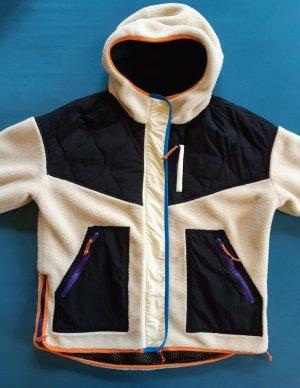 Kombinierte Jacke in Schwarz Weiß von Zara Limited Edition