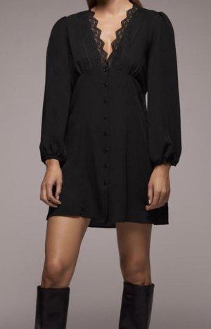 Kombiniertes Kleid mit Spitze in schwarz | S