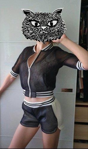 Ensemble en tricot blanc-noir