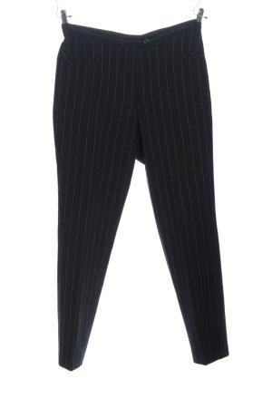 Kombiworld Pantalon zwart-lichtgrijs gestreept patroon zakelijke stijl