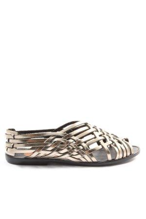 Komfort-Sandalen goldfarben Casual-Look