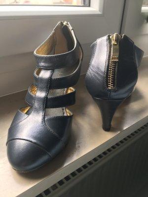 Lise lindvig Sandalias cómodas gris antracita-color oro
