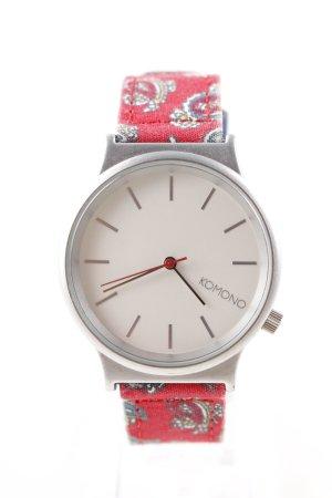 Komono Analoog horloge rood casual uitstraling