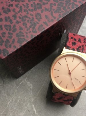 Komono Watch With Leather Strap multicolored