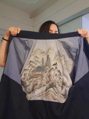 Kimono blue silk